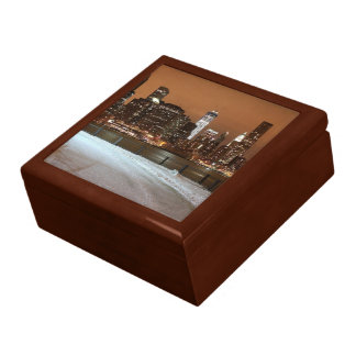 New York City Blanketed in Snow Trinket Boxes