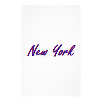 New York City Blue and Red Custom Stationery