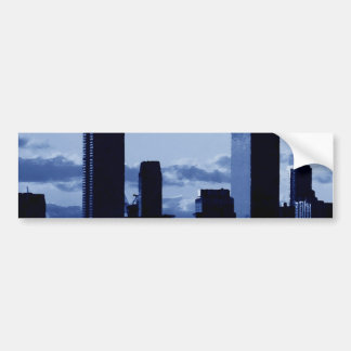 New York City & Blue Night Car Bumper Sticker