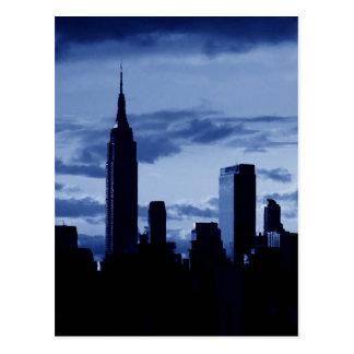 New York City & Blue Night Postcard