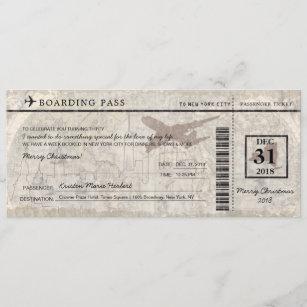 Boarding Pass Christmas Gifts On Zazzle