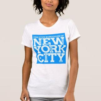 New York City Boroughs Design T-shirt