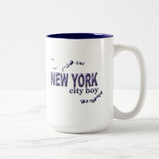 New York City Boy Two-Tone Coffee Mug