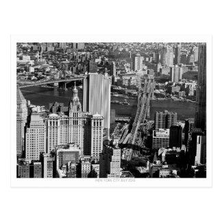 New York City Bridges aerial Postcard