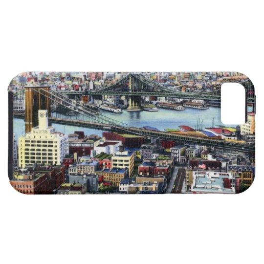 New York City Brooklyn and Williamsburg Bridges iPhone SE/5/5s Case