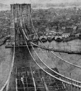 Vintage construction posters zazzle new york city brooklyn bridge construction poster malvernweather Gallery