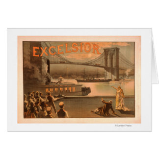 "New York City Brooklyn Bridge ""Excelsior"" Card"