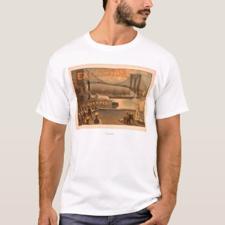 "New York City Brooklyn Bridge ""Excelsior"" T-Shirt"