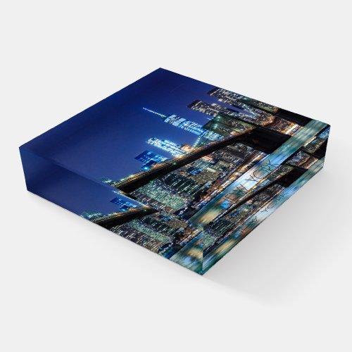 New York City, Brooklyn Bridge ID606 Paperweight