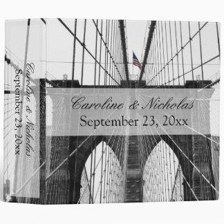 New York City Brooklyn Bridge Wedding 3 Ring Binder