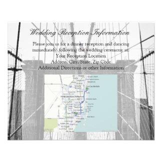New York City Brooklyn Bridge Wedding Flyer