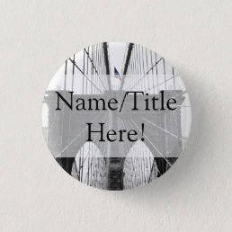 New York City Brooklyn Bridge Wedding Pinback Button