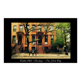 New York City - Brooklyn - colina del adoquín Posters