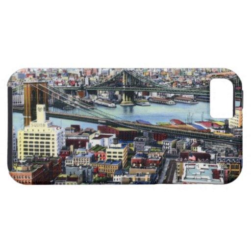 New York City Brooklyn y puentes de Williamsburg Funda Para iPhone SE/5/5s