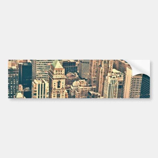 New York City Buildings Bumper Stickers