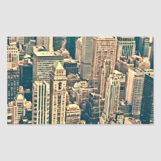 New York City Buildings Rectangle Sticker