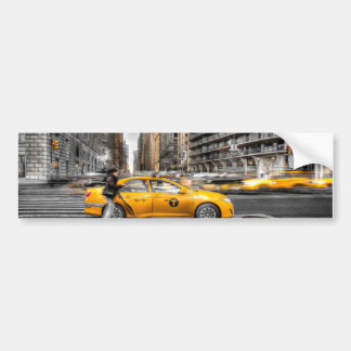 New York City cabs, Central Park Car Bumper Sticker