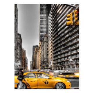 New York City cabs, Central Park Postcard