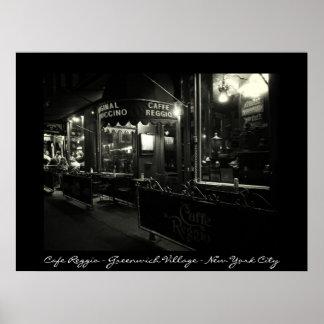 New York City - Cafe Reggio - Greenwich Village Posters
