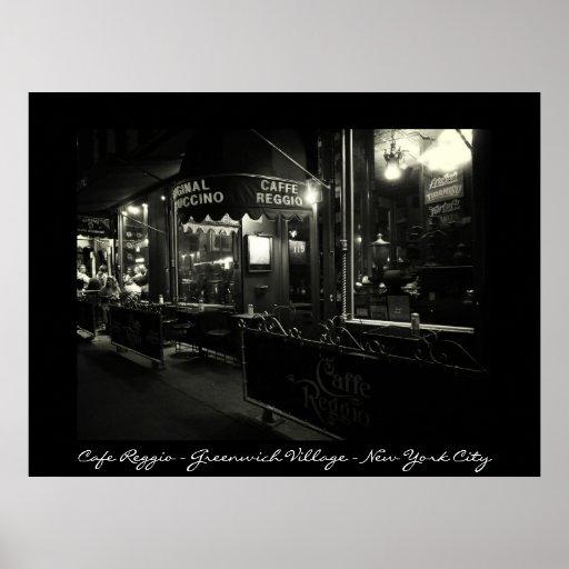 New York City - Cafe Reggio - Greenwich Village Poster