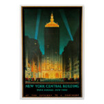 New York City Central Building Travel Art Posters