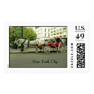 New York City Central Park Carriage Postage