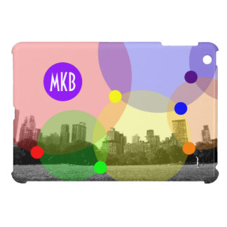 New York City Central Park Colorful Circles Bubble iPad Mini Covers