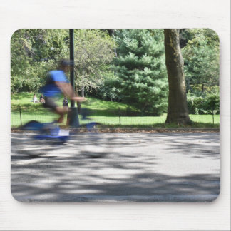New York City Central Park Cyclist Photography NYC Mouse Pad