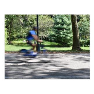 New York City Central Park Cyclist Photography NYC Postcard