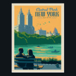 "New York City | Central Park Postcard<br><div class=""desc"">Anderson Design Group is an award-winning illustration and design firm in Nashville,  Tennessee. Founder Joel Anderson directs a team of talented artists to create original poster art that looks like classic vintage advertising prints from the 1920s to the 1960s.</div>"