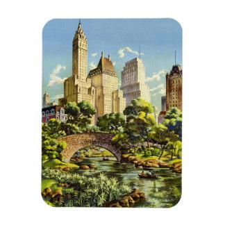 New York City Central Park Vintage Poster Magnet