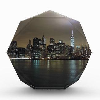 New York City céntrico en la noche