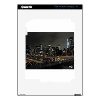 New York City céntrico en la noche iPad 3 Pegatina Skin