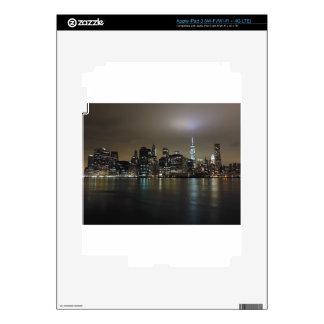 New York City céntrico en la noche iPad 3 Pegatinas Skins