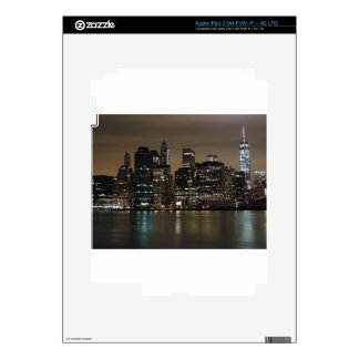 New York City céntrico en la noche iPad 3 Skin