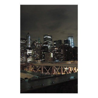 New York City céntrico en la noche Personalized Stationery