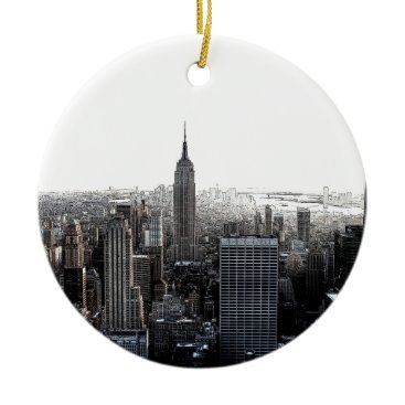 USA Themed New York City Ceramic Ornament