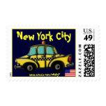 New York City checker cab cool stamp design