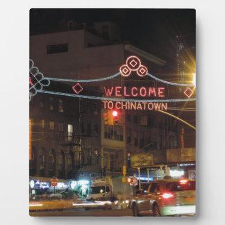 New York City Chinatown Placas Para Mostrar