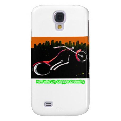 New York City Chopper Dreaming Red transp jGibney Samsung Galaxy S4 Covers