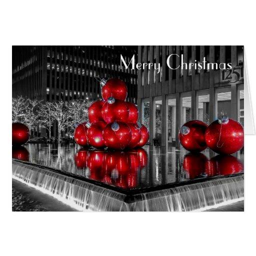 New York City Christmas Photo @ Rockefeller Center Cards