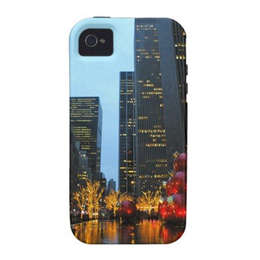 New York City Christmas Vibe iPhone 4 Case