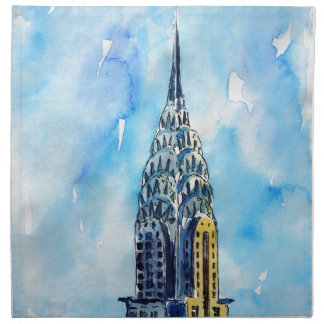 New York City Chrysler Building Napkin