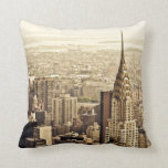 New York City - Chrysler Building Pillow