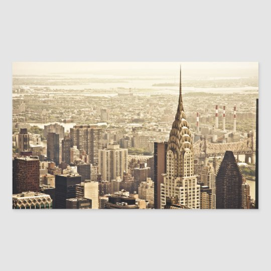 New York City - Chrysler Building Rectangular Sticker