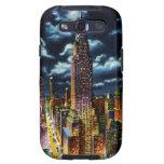 New York City Chrysler que construye en la noche Samsung Galaxy S3 Cárcasas