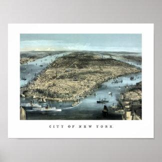 New York City -- Circa 1850 Poster