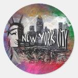 New York City Classic Round Sticker