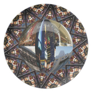 New York City Collage Plate