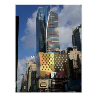 New York City Colorful Architecture Poster